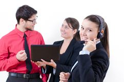Young business people at office Royalty Free Stock Image