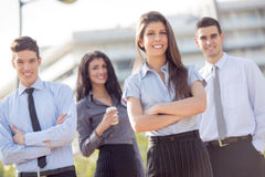 Young Business People Outdoor Royalty Free Stock Photo