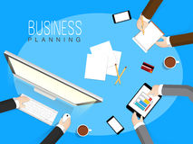 Young business people planning their business. Stock Images
