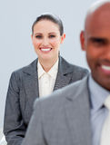 Young business people smiling Royalty Free Stock Photos