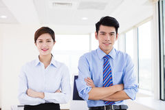 Young Business people standing in office stock images
