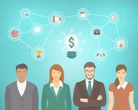 Young Business People Team Creates A Money Idea Stock Photography