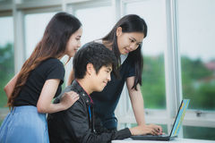 Young business people team Stock Photography