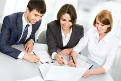 Young business people. Teamwork. Royalty Free Stock Photography