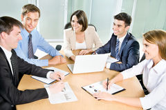 Young business people. Teamwork. Stock Image