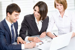 Young business people. Teamwork. Royalty Free Stock Image