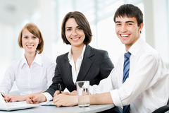Young business people. Teamwork. Royalty Free Stock Photos