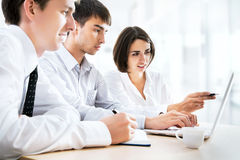 Young business people. Teamwork. Stock Photography