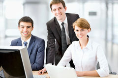 Young business people. Teamwork. Stock Photos