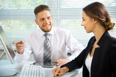 Young business people. Teamwork. Royalty Free Stock Photo