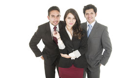 Young business people wearing suits Stock Images