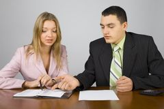 Young business people at work Royalty Free Stock Photography