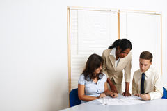 Young business people working Stock Photos