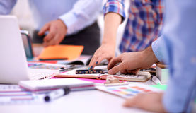 Young business people working at office on new Stock Images