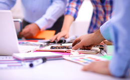 Young business people working at office on new Stock Photography