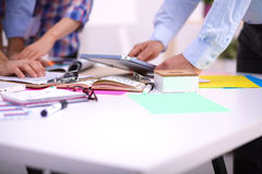 Young business people working at office Stock Image
