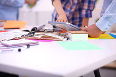 Young business people working at office Royalty Free Stock Photos