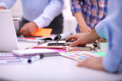 Young business people working at office Royalty Free Stock Image