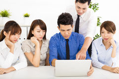 Young business people working together at  meeting Royalty Free Stock Photography