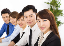 Young business people working together at  meeting Royalty Free Stock Image