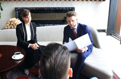 Young business peoples have meeting at conference room. Stock Photos