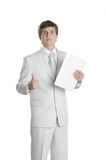 Young business person with paper folder Stock Photography