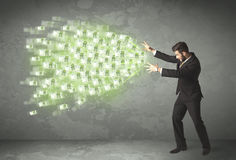 Young business person throwing money concept Royalty Free Stock Photography