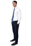 Young business professional, full length portrait Royalty Free Stock Photos