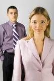Young business staff royalty free stock image