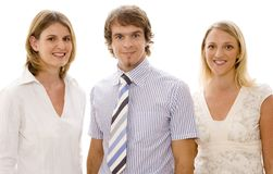 Young Business Team #1. Three young business people on white background Stock Photography