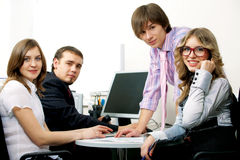 Young business team. Royalty Free Stock Photo