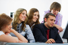 Young business team. Royalty Free Stock Image