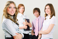 Young business team. Royalty Free Stock Images