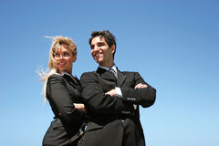 Young business team. Young successful businessman and businesswoman Stock Images