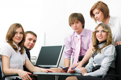 Young business team. Royalty Free Stock Photos