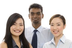 Young Business Team 2. A diverse group of smiling professionals Stock Photo