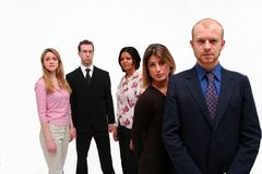 Young Business Team 2. Image of 5 young business people in both formal and casual business attire stock image