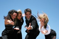 Young business team. Young successful business people for teamwork Stock Photography