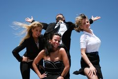 Young business team. Young successful business people for teamwork Royalty Free Stock Images