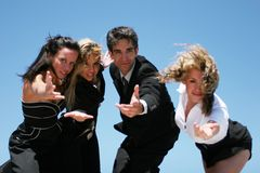 Young business team. Young successful business people for teamwork Stock Images