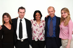 Young Business Team - 5 people. Image of 5 young business people royalty free stock photography