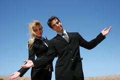 Young business team. Young successful businessman and businesswoman Stock Photography