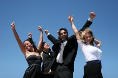 Young business team. Young successful business people for teamwork Stock Image