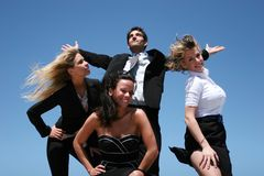 Young business team. Young successful business people for teamwork Royalty Free Stock Image