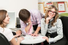 Young business team of architects in office Royalty Free Stock Photos