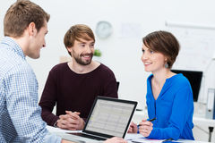 Young business team brainstorming Stock Image