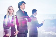 Young business team in city royalty free stock images