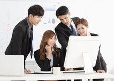 Young business team discuss in office Royalty Free Stock Images