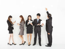 Young business team enjoy technology lifestyle Royalty Free Stock Photos