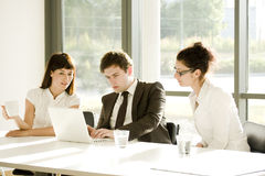 Young business team at a meeting Royalty Free Stock Photos